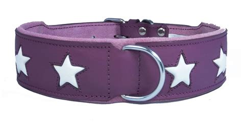 wholesale collars purple leather wholesale collar with white design small to big dogs staffy