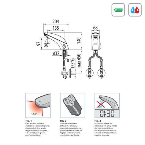rubinetti dmp rubinetto dmp class metal 20 elettronico a batteria con