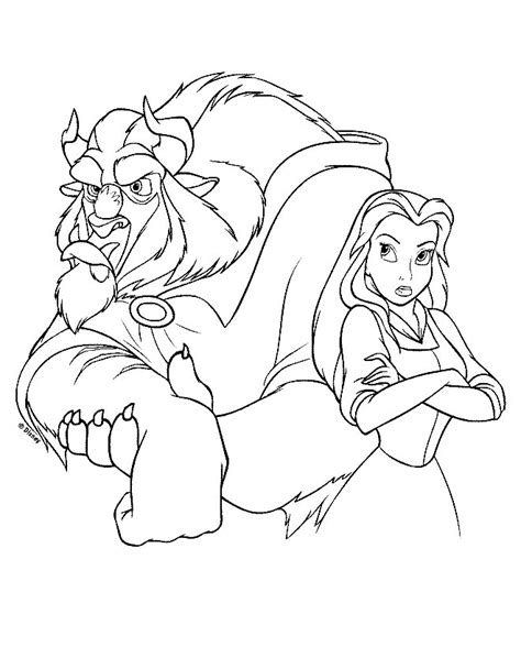 walt disney coloring pages the beast princess belle