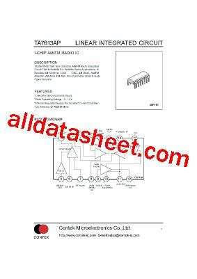 Kec Kia324p ta7613ap 데이터시트 pdf list of unclassifed manufacturers