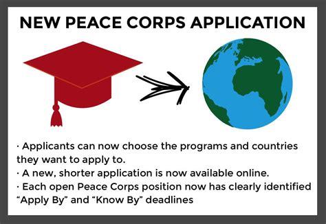 peace corps unveils shortened digital application process