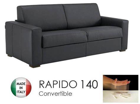canapé convertible 190 cm canape convertible rapido 140cm dreamer cuir eco gris
