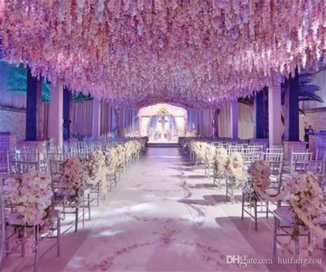 romantic artificial flowers simulation wisteria vine wedding decorations long short silk plant