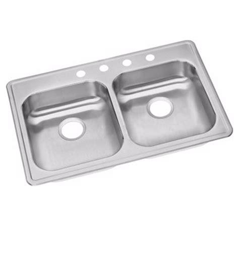 dayton equal bowl kitchen sink elkay ge23322 dayton 5 3 8 quot equal bowl drop in