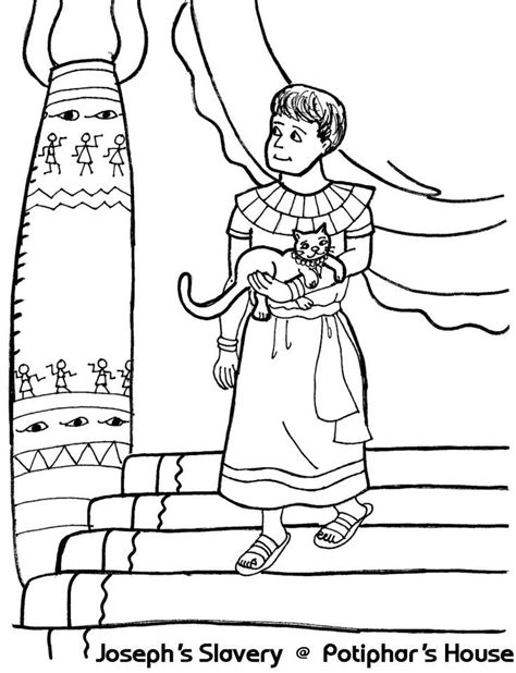coloring page joseph in jail 33 best images about coloring bible ot genesis on