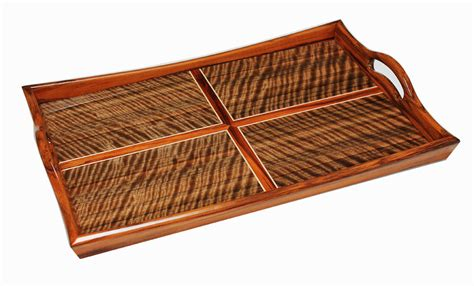 ottoman tray wood ottoman tray made from yaka wood and curly australian walnut