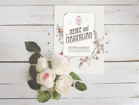 Hochzeitseinladung Jugendstil by Romantische Einladungskarten Hochzeit Designideen