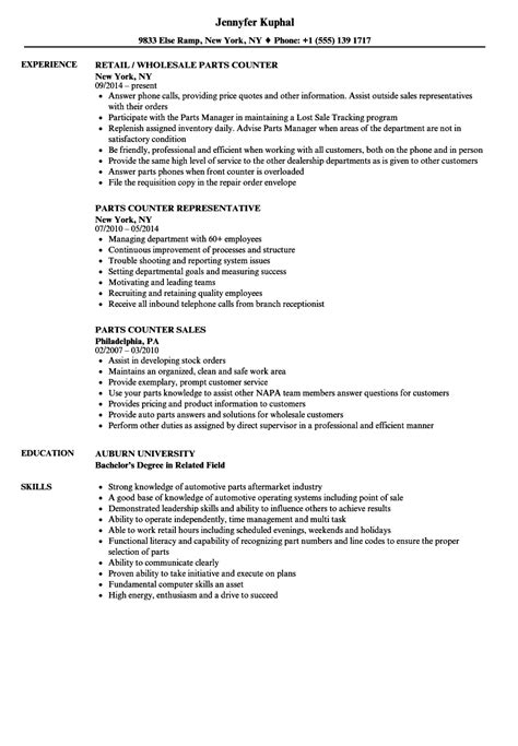 resume format counter salesman parts of a resume image collections cv letter