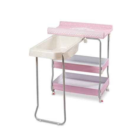 Wide Changing Table Baby Bath With Wide Changing Table Open Pratic 173 Lovely Pink Primi Sogni Ebay