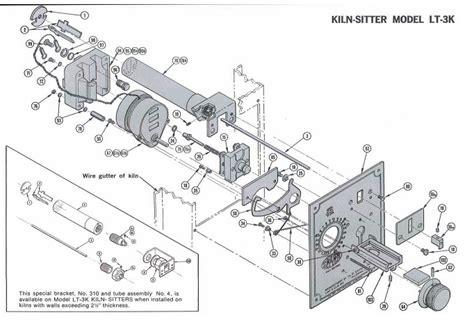 wireing diagram for model fe 25 p ceramic kiln
