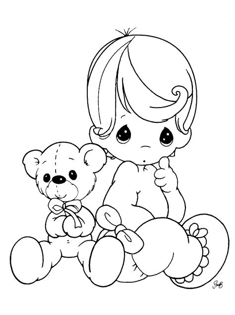 Precious Moments Baby Coloring Pages free printable precious moments coloring pages for