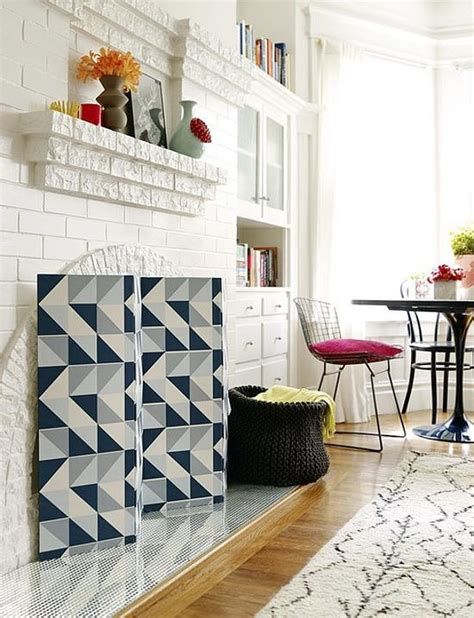 diy a fireplace screen time to drop your wallpaper fears