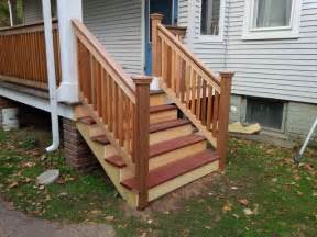 Cedar Handrails Cedar Amp Mahogany Porch Stairs Traditional Porch
