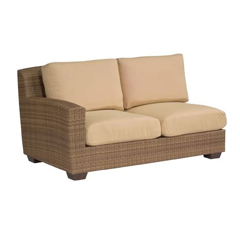 Saddleback Patio Furniture by Woodard Saddleback Left Arm Facing Wicker Loveseat S523021l