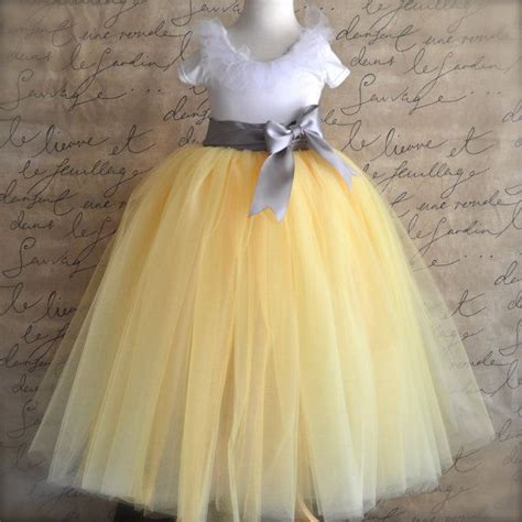 pattern for flower girl tutu dress yellow and grey flower girl tutu custom blend of yellows