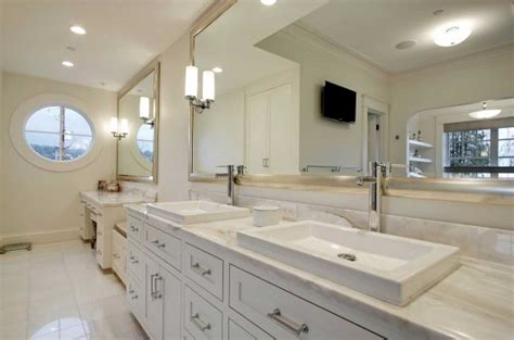 Large Bathroom Wall Mirrors | large bathroom wall mirror with silver framed ideas home