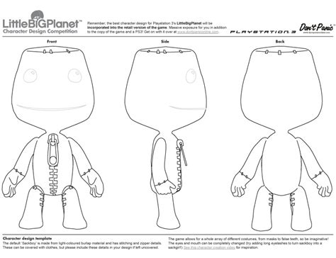 Templates Para Blender | blueprint sackboy little big planet