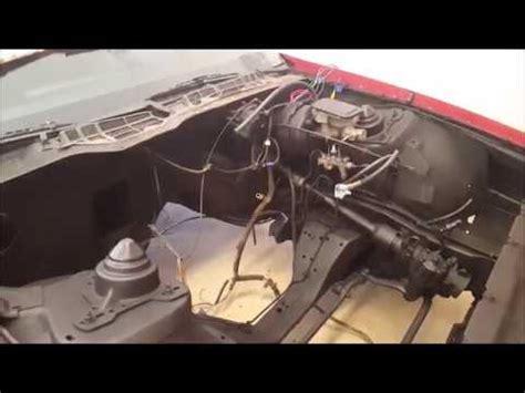 camaro engine bay wiring harness  removing