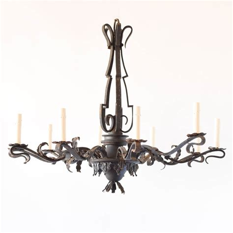 The Chandeliers Large Simple Iron Chandelier The Big Chandelier