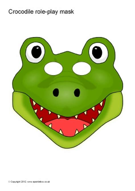 How To Make A Crocodile Mask Out Of Paper - printable jungle and safari animal masks for sparklebox