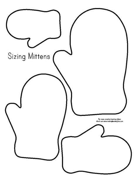 image result  mitten tracing pattern felt ornaments