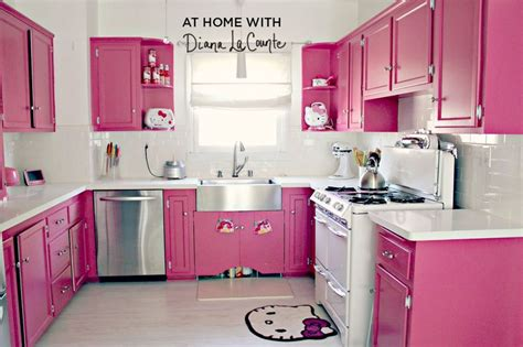 pink kitchen at home with diana la counte a beautiful mess