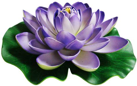 Paper Lotus 20cm Sky Blue foam lotus floating water flower purple blue candle free