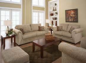 Sand fabric casual living room sofa amp loveseat set w rolled arms afs