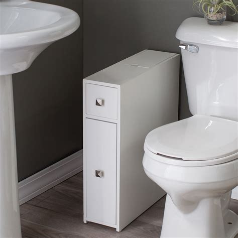 Narrow Bathroom Cabinet Belham Living Longbourn Narrow Bath Cabinet Space Savers At Hayneedle