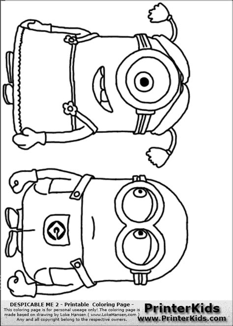 minions despicable me 2 coloring pages