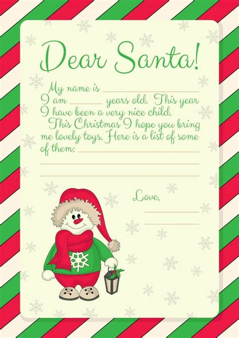 Letter From Santa Template Printable Uk | free printables letter to santa templates and how to get