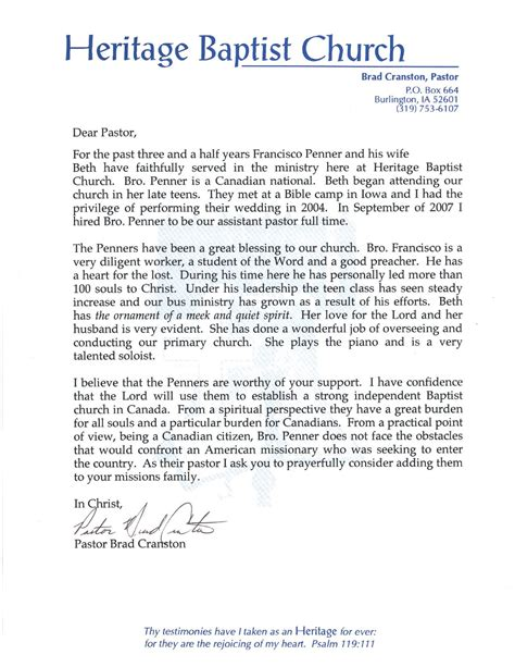 Invitation To A Pastor Anniversary Letter Of Invite Letter From Pastor