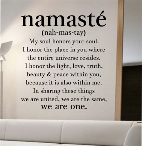 namaste definition quote wall decal namaste vinyl sticker