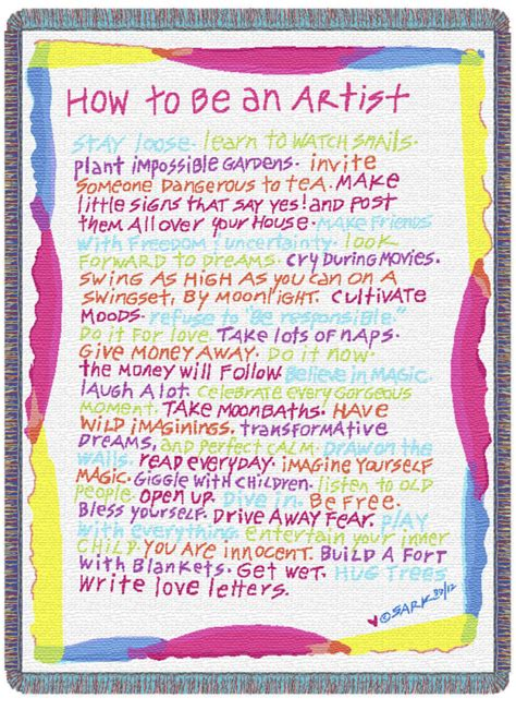 how to an how to be an artist planet sark