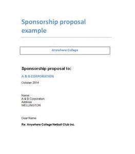 Sponsor Letter Template by 40 Sponsorship Letter Sponsorship Templates