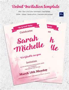 Exle Of Invitation Letter In Debut Debut Invitation Card Maker Free
