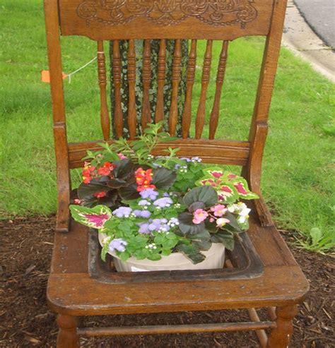 planters chair antique chair planter