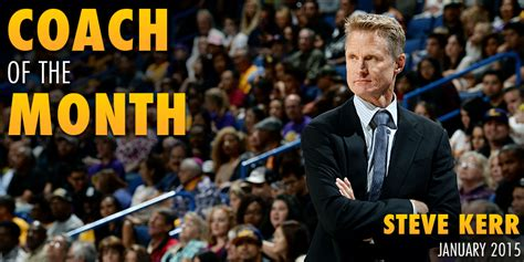 epl coach of the month warriors steve kerr named western conference coach the