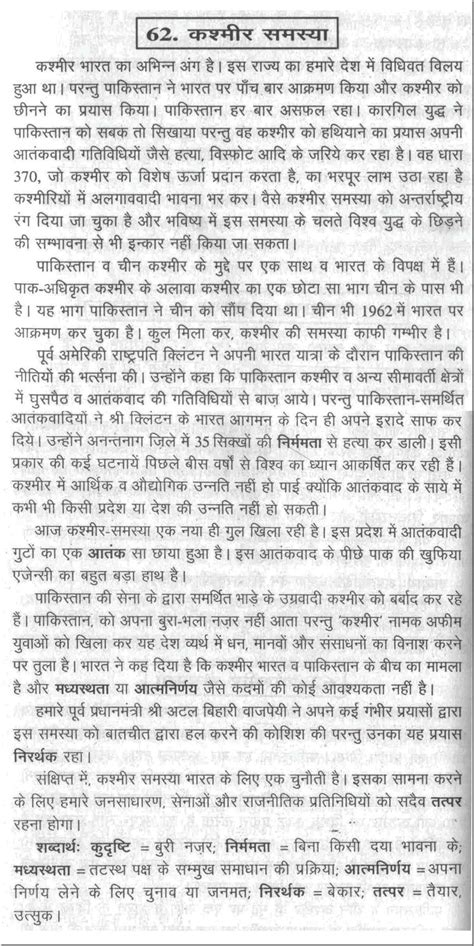 format of essay in hindi sle essay on the problems of kashmir in hindi