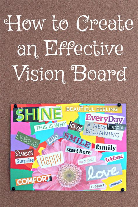 how to create a vision board one that how to create a vision board living a