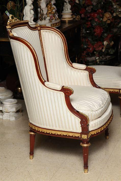armchair and ottoman set three piece louis xvi style armchair and ottoman salon set