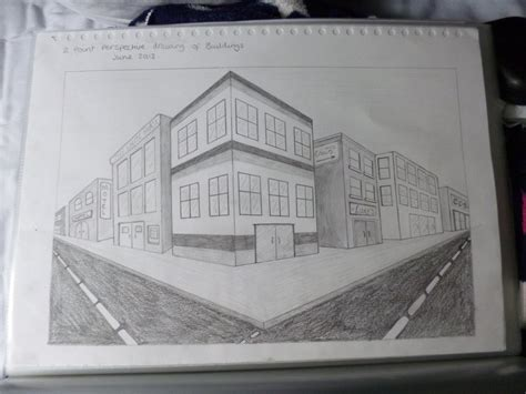 Drawing 2 Point Perspective Buildings by 2 Point Perspective Drawing Of Buildings By Rockstarmaddz