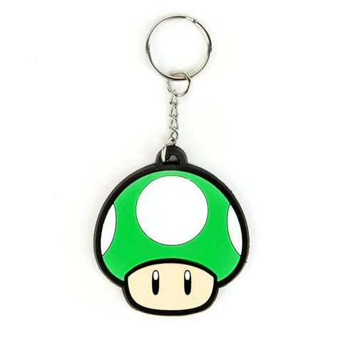 Mario Comes To With Keyrings And Swaying Mushrooms by Nintendo Mario Bros 1up Keychain