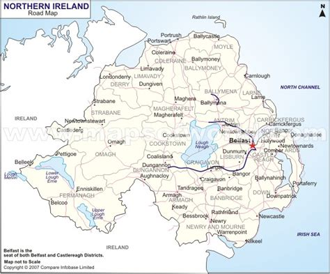 printable road maps ireland northern ireland road map