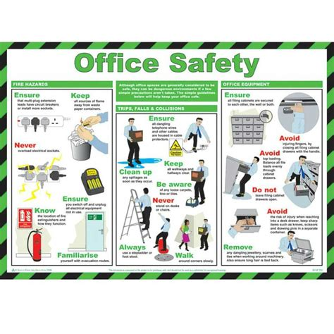 Home Decorating Websites Stores Office Safety Poster Ese Direct