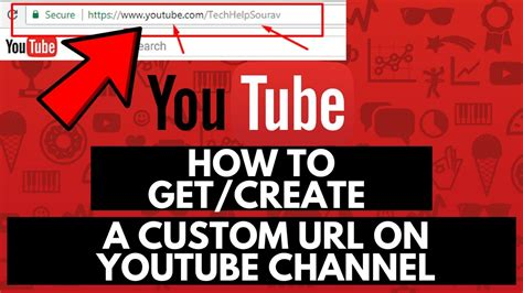 create vanity url how to get create a custom url on channel