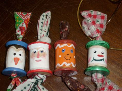 older children christmas crafts spool ornaments and winter crafts for ornament