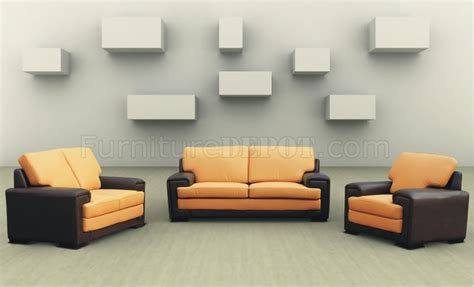 two tone modern living room set with sleeper sofa