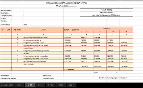 Aplikasi Excel Untuk Guru Edisi Revisi 1 aplikasi rkas bos terbaru 2016 revisi guru