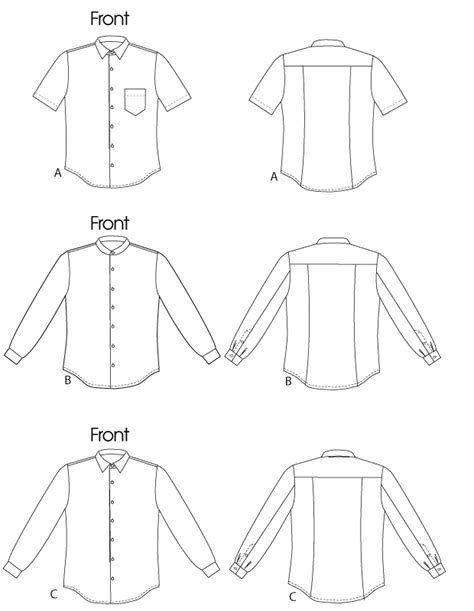 pattern shirt mens vogue patterns 8759 men s shirt